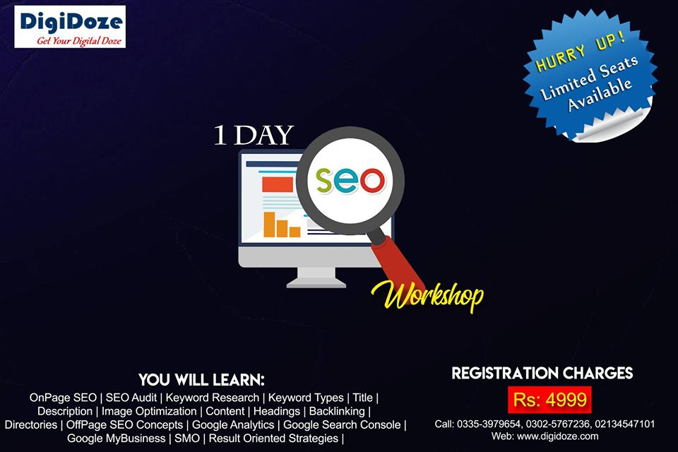 SEO Workshop in Karachi