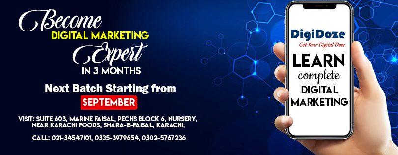 Digital Marketing Course - September- DigiiDoze