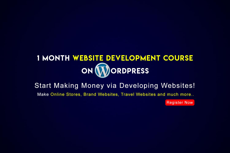 wordpress website development course i